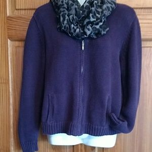 Plum colored heavy weight sweater. Size M